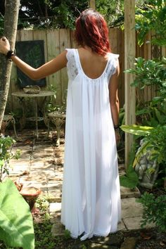 Bridal Nightgown ... this looks so comfortable... i would wear this so much around the house... :):) <3 $95.00