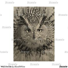 Well Owl Be Wood Print
