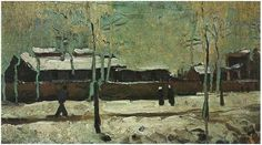 The Old Station at Eindhoven, 1885, Vincent van Gogh Medium: oil on canvas