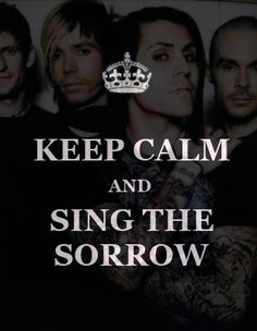 We'll keep calm and Sing the Sorrow in our own DECEMBERUNDERGROUND until we feel a Crash Love at our Burials.  To those who don't like this plan... I Hope You Suffer.  To those who are already there, I'm Very Proud of Ya!
