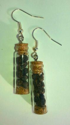 Natural pepper corns earrings by BDreamHandmade on Etsy