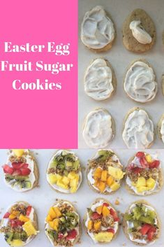Easter Egg Fruit Sugar Cookies #easter #healthy