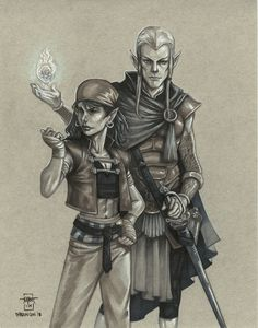 Finn And Molly by Everwho on DeviantArt Drawing Tools, Line Drawing, Moon Elf, D D Characters, Fictional Characters, White Highlights, Character Description, Deviantart, Portrait