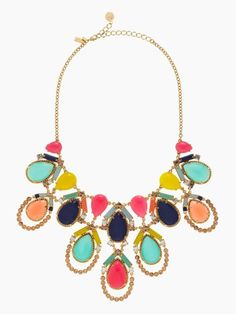 amalfi mosaic statement necklace