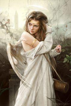 Angel in the garden by TheRafa