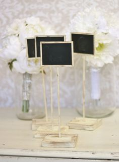 Rustic Chalkboard Signs Shabby Chic Wedding Decor SET of 4 on Etsy, $39.99