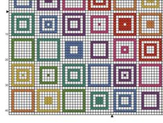 PDF Cross Stitch Pattern for Geometric Squares  Repeating
