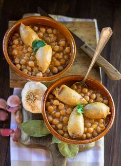 Stuffed Squid with Chickpeas