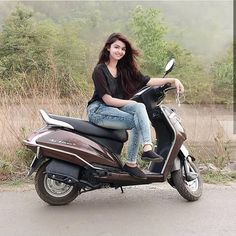 Image may contain: 1 person, sitting, motorcycle and outdoor Dehati Girl Photo, Girl Photo Poses, Girl Photography Poses, Lovely Girl Image, Beautiful Girl Photo, Beautiful Girl Indian, Beautiful Women, Stylish Girls Photos, Stylish Girl Pic