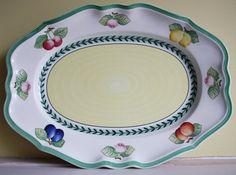 Large platter Villeroy Boch Fleurence French door MyVintagePorcelain