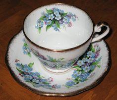 Royal Standard ForgetMeNot Teacup and Saucer Set by JosChinaShop, $28.00