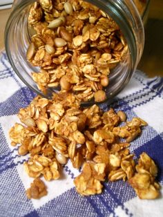 Gluten & Dairy Free Pumpkin Granola - would be interesting to see how it tastes compared to momma lanes!