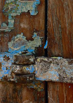 Hint of blue on wood Mantle Art, View Image, Wood, Blue, Painting, Design, Weather, Madeira, Woodwind Instrument