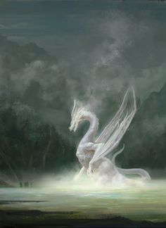 "fantasyartwatch: "" White Dragon by Yan Chenyang """