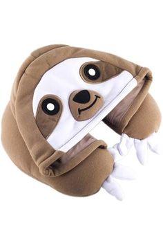 Sloth Kigurumi Neck Pillow Animal Travel Hoodie