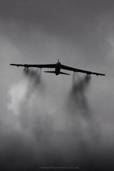 B-52 climbing out.