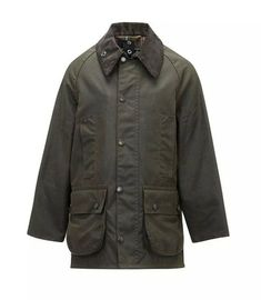 ba63d1ffbe9b Boy s Barbour Classic Beaufort Waxed Jacket is a great miniaturized classic  country style with all the ergonomic features