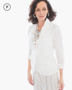 Chico's Women's Petite Clean Linen Blazer