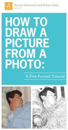 """How to Draw a Picture From a Photo - Download your free eBook From ArtistDaily.com ( Photo and Drawing: Details of """"ZZZZZ"""", by Sandra Angelo )"""