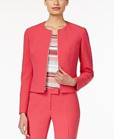 Anne Klein Zip-Front Jacket
