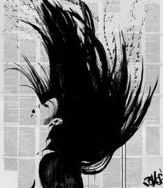 "Saatchi Art Artist Loui Jover; Drawing, ""flash back"" #art"
