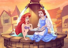 Ariel and Belle by jostnic