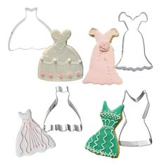 1 Set (4 Pieces) Metal Stainless Steel Wedding Dress Cookie Cutters