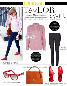 Taylor Swift nails the casual look with her polished hipster twist.