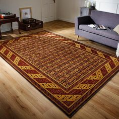 Topaz Red/Gold Rug By Flair Rugs has traditional pattern. This rug is made using viscose and chenille for high durability. Traditional Rugs, Traditional Design, Living Room Size, Indian Rugs, Gold Rug, Rug Making, Red Gold, Yellow Rugs, Centre