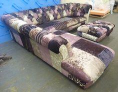Chesterfield Ecksofa chesterfield ecksofa in silberfarbenem samt kippax sofas de