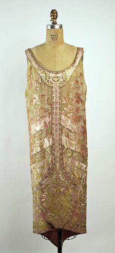 Evening Dress 1920, French, Made of silk