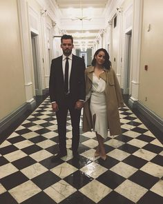 Chloe Bennet and Austin Nichols at the White House