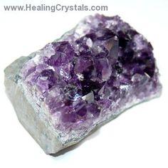"""Amethyst - Amethyst Druze W/Cut Base (Dark) """"Extra""""- Amethyst - Healing Crystals"""