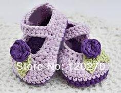 Resultado de imagen para  zapatos crochet bebe