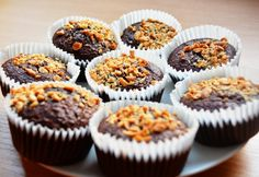 Diétás brownie muffin Diabetic Recipes, Diet Recipes, Cake Recipes, Healthy Recipes, Healthy Meals, Paleo, Keto, Healthy Cookies, Mini Cupcakes