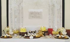 Christy from Itsy Belle shares the sweet details of a winter-themed vintage Winnie the Pooh birthday party that she planned for two little guests of honor.