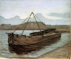 Evening at Weesperzijde Sun - Piet Mondrian. Impresionismo