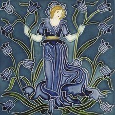 Art Nouveau Tiles by Walter Crane 1900
