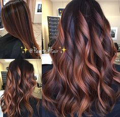 ❤✨🌹All Angles of Rose Gold 🌹✨PaintedHair✨ 💃🏻Straight and Waved🌊❤! What do you think? Be sure I leave your comments and questions… Highlights For Dark Brown Hair, Brown Hair Colors, Hair Highlights, Hair Color Balayage, Ombre Hair, Bayalage, Cabelo Tiger Eye, Rose Gold Hair Brunette, Hair Day