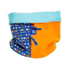 Snood en jersey bleu clair et orange enfant de 2 à 5 ans, €20.99