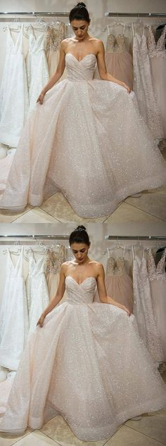 sparkle sweetheart wedding dresses , ball gowns for formal party.