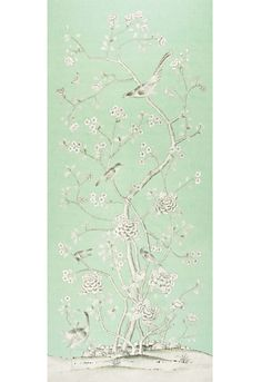 Chinois Palais Fabric - Aquamarine | Schumacher