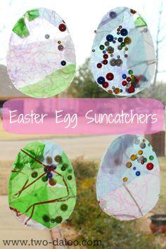 Easter Egg Suncatchers from Twodaloo (www.two-daloo.com)