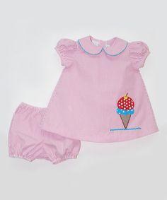 Betti Terrell Pink Ice Cream Dress & Bloomers - Infant by Betti Terrell #zulily #zulilyfinds