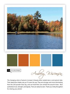 A cool autumn lake enhances the beauty of autumn. - Landscape influence - Location: Amberg, Wisconsin