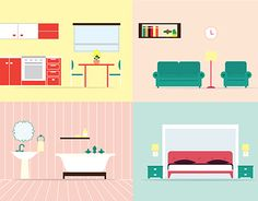 House rooms illustration
