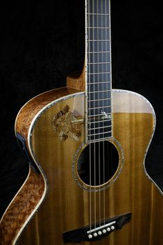 "A beautiful ""Grand Session"" model by Driftwood Guitars Guitar Building, Ukulele, Driftwood, Acoustic, Music Instruments, Model, Beautiful, Guitars"