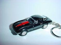 Parts & Accessories Cheap Sale New 3d Black 1978 Chevrolet Corvette Custom Keychain Keyring Key Vette Bling!!! Transportation