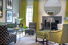 gray green living room modern classic