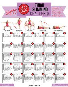 30 Day Thigh Slimming Challenge!